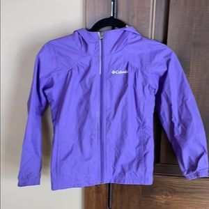 Girls Columbia purple rain jacket S (7/8)